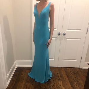 Blue teal gown